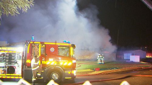 The blaze was so intense, crews had trouble battling the flames that send smoke billowing across the northern suburbs.