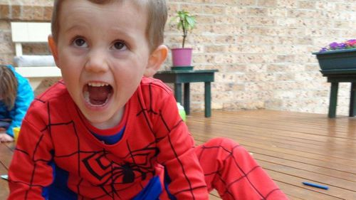William in his Spiderman suit. (Supplied)