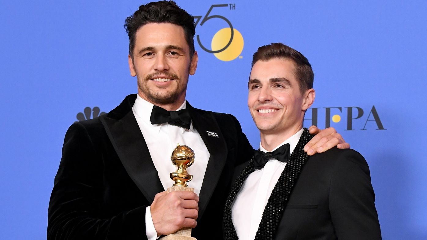 Tommy Wiseau Brought on Stage at Golden Globes by James Franco