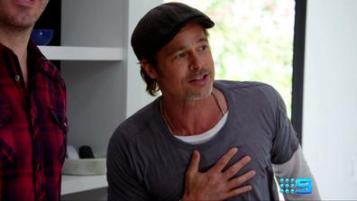 Brad Pitt as seen on Nine's new series, Celebrity IOU.
