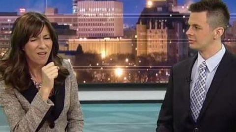 Newsreader simulates sex act on live TV