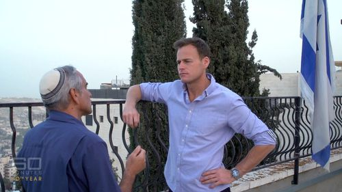 60 Minutes reporter Tom Steinfort with Daniel Luria. Picture: 60 Minutes