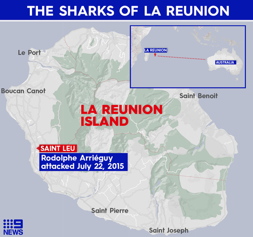 Réunion Island is a French department in the Indian Ocean.