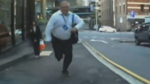 James Stevenson shared the video in the hope of identifying the pedestrian.
