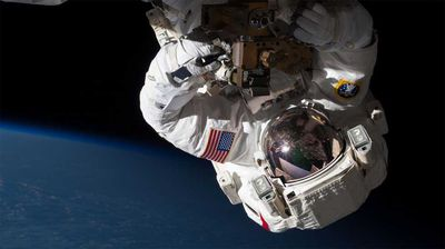 Expedition 35 Flight Engineer Chris Cassidy completed a spacewalk to inspect and replace a pump controller box. (NASA)