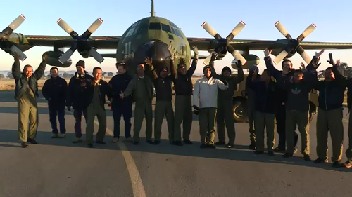 Indonesian military officials jet out of Wagga in revamped plane