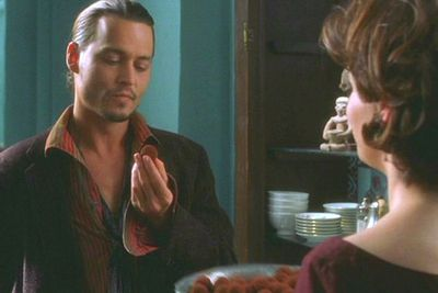 Mmm chololate, need we say more?<br/><br/>Juliette Binoche wooed Johnny Depp with her French charm and chocolate shop in this hit rom-com…oh and some very saucy choco-covered sexy times.<br/><br/>(Image: Miramax)