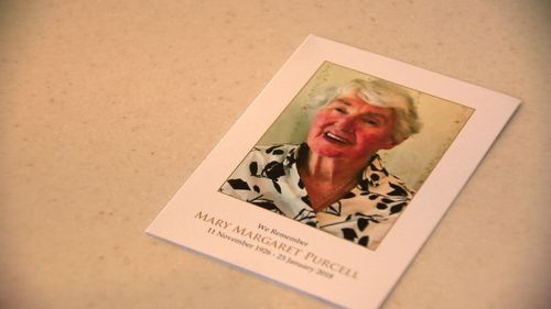 Mrs Purcell's daughters discovered their mother had been robbed on the day she died. Picture: 9NEWS