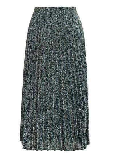 "<a href=""http://www.topshop.com/en/tsuk/product/glitter-pleat-midi-skirt-5931120?bi=0&amp;ps=20&amp;Ntt=midi%20skirt"" target=""_blank"">The midi skirt Topshopglitter pleated midi-skirt, $88.</a><br>"