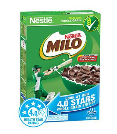 <strong>Milo Cereal (8.2 grams of fibre per 100 grams)</strong>