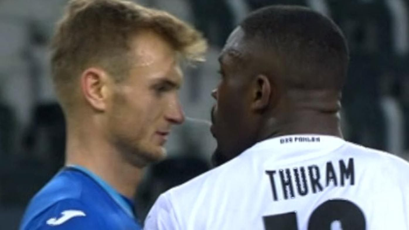 Footballer Marcus Thuram apologises for 'accidentally' spitting in rival's face