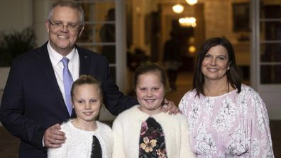 Jenny and Scott Morrison with their daughters