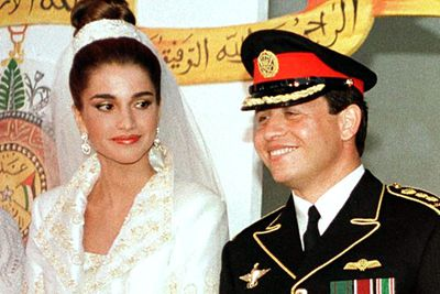 <b>Became royalty in:</b> Jordan<p>Queen Rania was an extremely powerful career woman before marrying the then-Prince Abdullah II in 1993 after just five months together.<P>Now a mum of four, Rania spends her time working as a global ambassador for education and community empowerment.<br/>