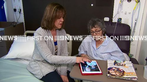 Christine Dalipis's daughter had to break the news to her in hospital. (9NEWS)