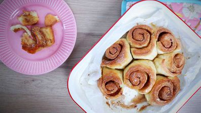 Perfect, easy, and just 4-ingredients makes these cinnamon scrolls a dream