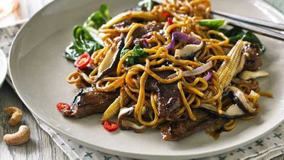 "Recipe:&nbsp;<a href=""http://kitchen.nine.com.au/2016/05/05/13/33/hayden-quinns-stirfried-beef-with-asian-greens"" target=""_top"">Hayden Quinn's stir-fried beef with Asian greens</a>"