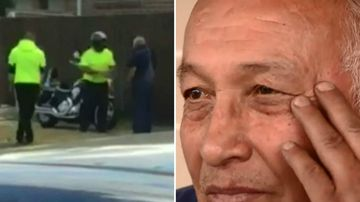 Elderly man 'hit with metal' in road rage attack