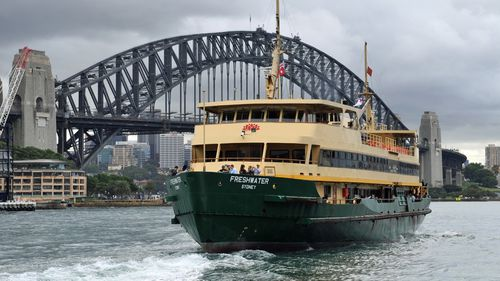 The Freshwater departing Circular Quay, bound for Manly.