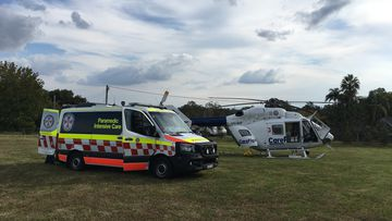 The 25-year-old woman was hurt while leading a horse in Glenorie, north of Sydney.