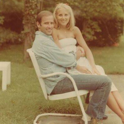 Joe Biden and Jill Biden in their early days together.