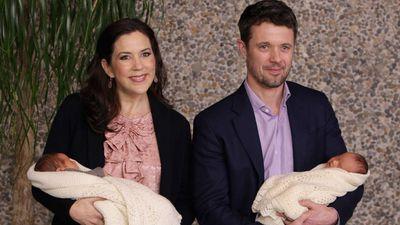 Princess Mary and Prince Frederick present Princess Josephine and Prince Vincent to the world, January 2011