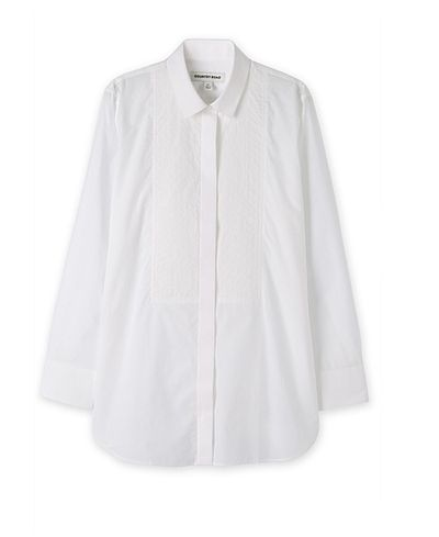 "<p>The shirt:&nbsp;<a href=""https://www.countryroad.com.au/shop/woman/clothing/shirts/60196899/Stitch-Bib-Shirt.html"" target=""_blank"">Country Road</a>&nbsp;stitch bib shirt, $159</p>"