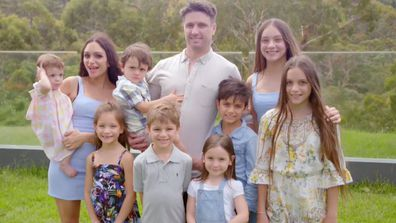Mark, Arielle and their eight kids on Space Invaders