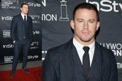 Channing Tatum hunky as ever at the HFPA & InStyle's TIFF party.