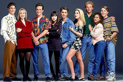 <B>The skinny:</B> The quintessential teen drama, <I>90210</I> started out following the lives of highly attractive teens (except Tori Spelling) living in Beverly Hills, but through the show's 10-year run moved with them into adulthood... and rehab.<br/><br/><B>Why we loved it:</B> The show was an awesomely soapy account of these rich teens' lives as they fell in love, escaped from cults and all developed drug habits, but the real reason teens tuned in was the eye candy (except Tory Spelling). Jason Priestley's eyes, Luke Perry's sideburns and Jennie Garth's low-cut tops were the true stars of this '90s sensation.