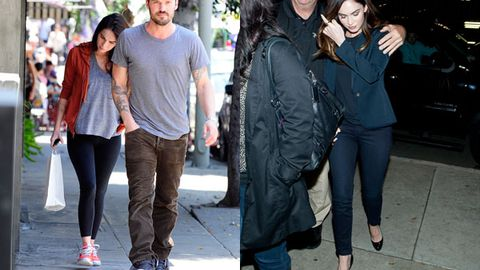 Pregnant: Megan stepping with Brian/Slim: Megan's first public appearance since birth of son Noah