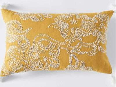 Iris Embroidered Cushion — Target