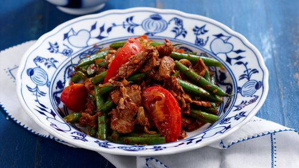 Chilli jam pork and bean