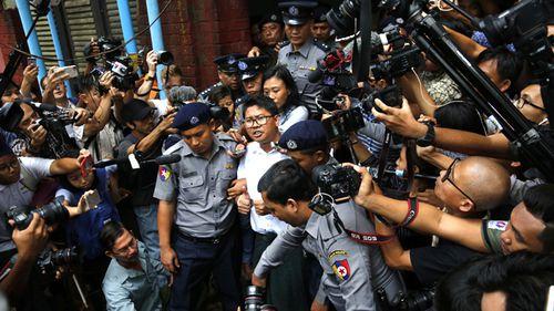 Myanmar court sentences Reuters reporters to seven years in jail