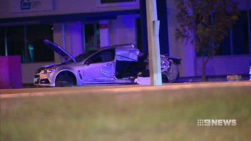The stolen Commodore reached speeds of more than 150km/h before the crash. (9NEWS)
