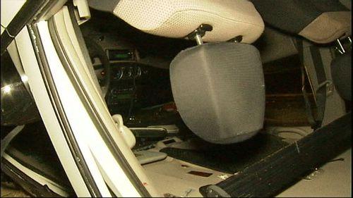 The damaged car. (9NEWS)