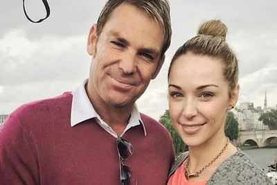 """""""Chilling in the rain & having fun in Paris with @emilyscottofficial""""<br/><br/>Image: @shanewarne23/Instagram"""
