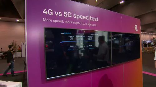 """More speed, more capacity"": Telstra's incoming 5G network."