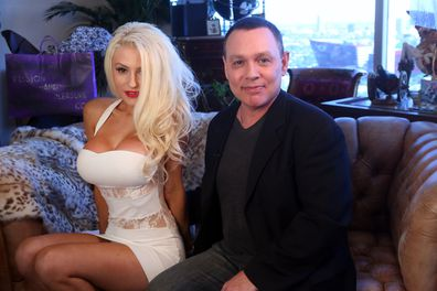 Doug Hutchison and Courtney Stodden in session with Dr. Ava Cadell For The Passion and Pleasure Program on July 17, 2013 in West Hollywood, California.