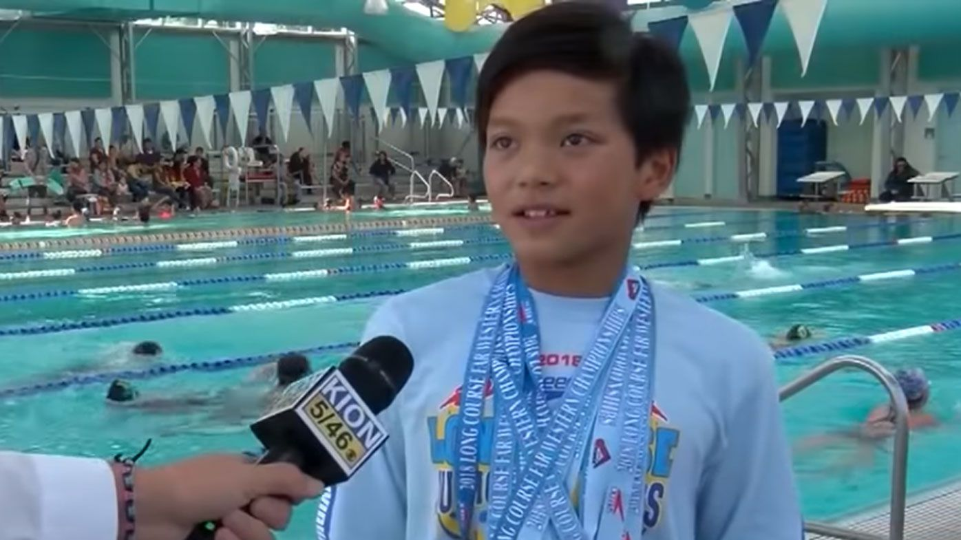 10-year-old breaks Michael Phelps' 100m butterfly record