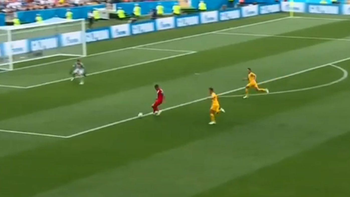 World Cup: Socceroos angry at missed offside call in Peru's opening goal