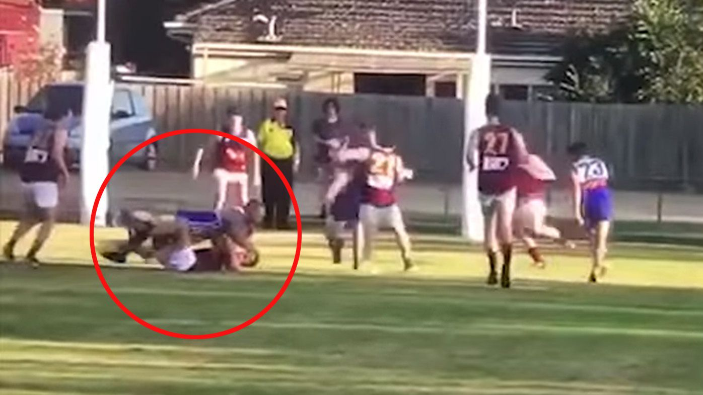 Local Aussie Rules footy player involved in second shocking incident after breaking opponent's jaw in another attack