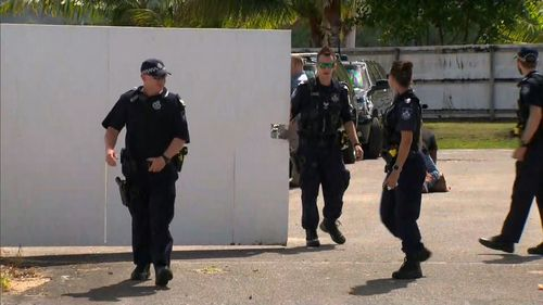 Sections of Cairns are in lockdown with US Vice President Mike Pence visiting the city.