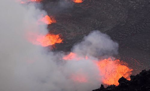 Tens of thousands of visitors are expected to come see the new eruption. 2021. (USGS via AP)