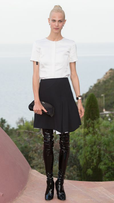 <p>At Dior's Cruise 2016 show in Cannes.</p>