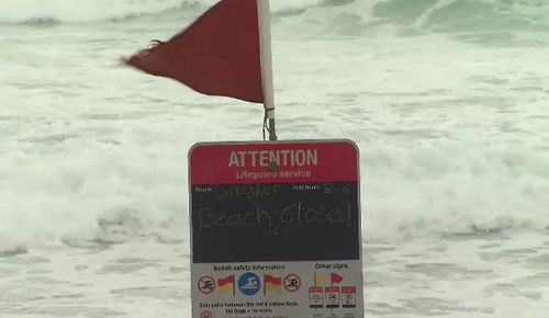 A number of Gold Coast beaches are closed. (9NEWS)