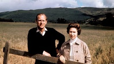 Queen Elizabeth II and Prince Philip The Duke of Edinburgh at Balmoral on their Silver Wedding anniversary in 1972