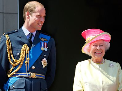 Prince William and Queen Elizabeth in 2015.