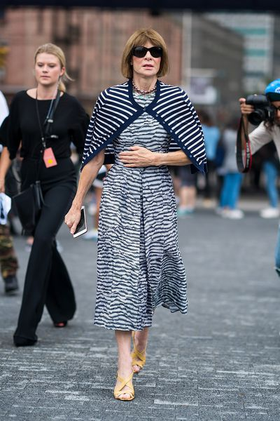 Anna Wintour at the Michael Kors show during New York Fashion Week, September 12, 2018
