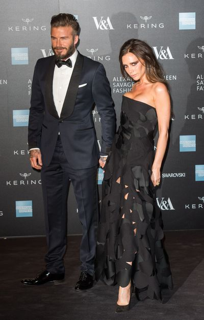 <p><strong>Goth Glamour</strong></p> <p>David Beckham and Victoria Beckham at the <em>Alexander McQueen: Savage Beauty</em> exhibition at Victoria &amp; Albert Museum on March 12, 2015.&nbsp;</p>
