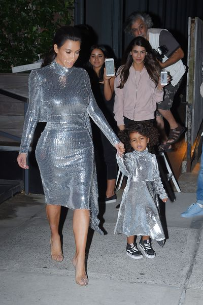 Reality TV star and beauty mogul Kim Kardashian and her mini-me, North West, 4, in New York.